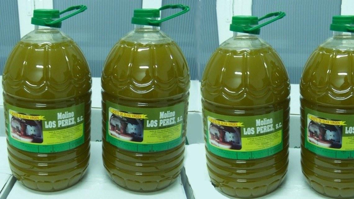 Botella de aceite de oliva virgen Molino Los Pérez