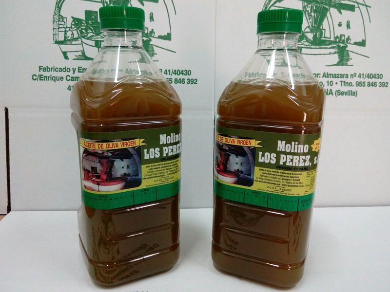 garafa de 2 litros aceite oliva virgen Molino los Perez