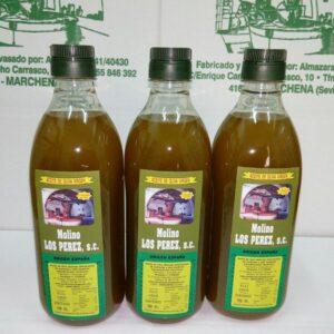 botella de 750 ml aceite oliva virgen Molino los Perez