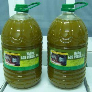Botella de 5 litros de aceite Molino Los Pérez
